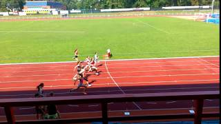 Závody družstev staršího žactva 2016 - 60 m 1. rozběh