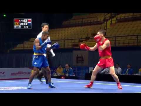 Sanshou Sanda 2016 World Cup Semi Finals China vs Sri Lanka 48 Kg Men
