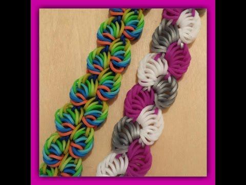 Railroad Rainbow Loom Bracelet Without Loom Using 2 Forks