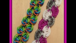 "New "" Sorbet Delight "" Hook Only Rainbow Loom Bracelet/ How To Tutorial"