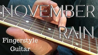 November Rain - Acoustic Fingerstyle - Close Up Guitar Player View
