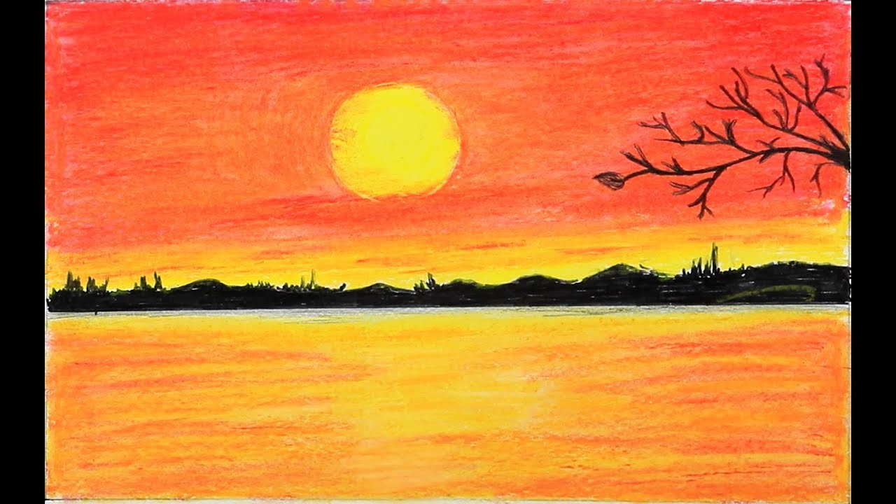 Digital Pastel Drawing of a Sunset at Adak Island ... |Pastel Drawings Of Sunsets