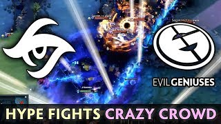 What you expect from EG vs SECRET -- HYPE COMBOS CRAZY CROWD