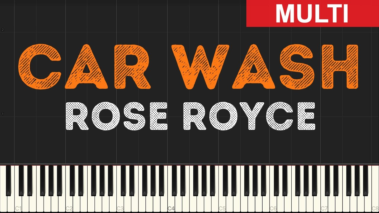Rose Royce Car Wash Instrumental Tutorial Synthesia Youtube