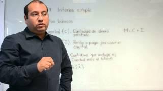 Interés simple: Explicación de tasa, capital, monto y fórmulas