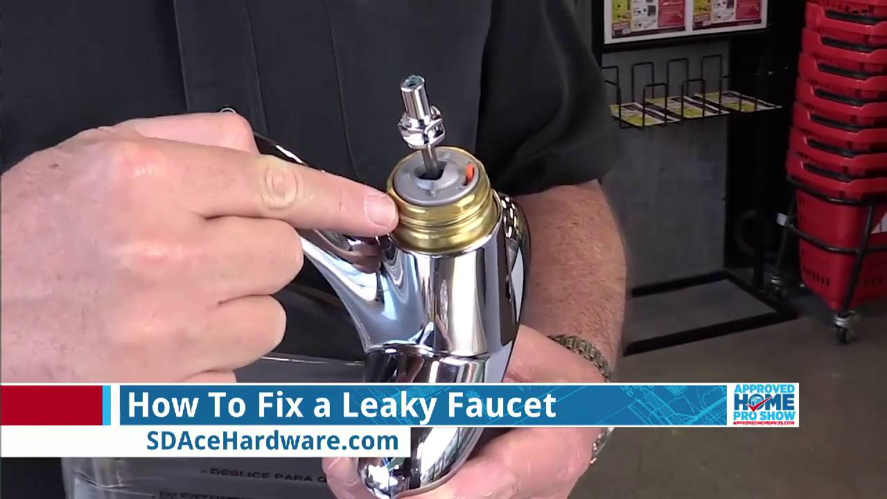 How To Fix A Leaky Faucet Youtube