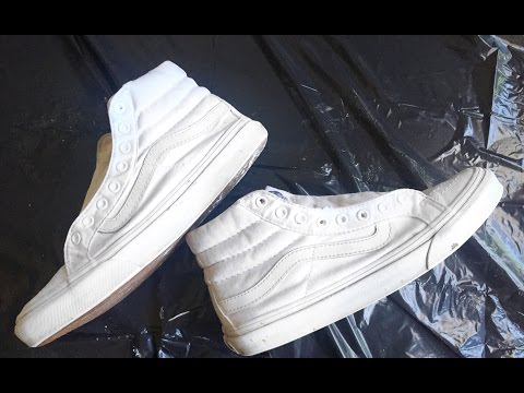 HOW TO CLEAN  WHITE VANS ! |Tayoarts