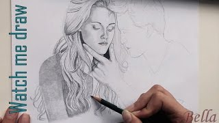 WATCH ME DRAW 10 - Kristen Stewart as Bella Cullen [twilight]