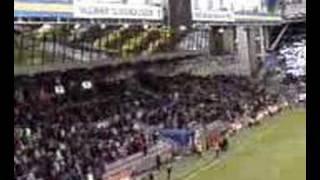 AIK - Kalmar. AIK fansen sjunger Åh vi é AIK