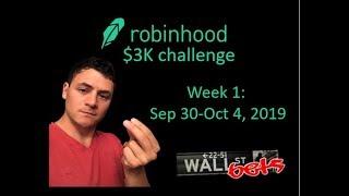 Robinhood $3K Challenge Week 1 I Wall Street Bets