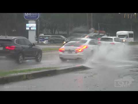 7-27-2021 Savannah, GA - Invest 90L - Heavy Rain - Vehicle Traffic