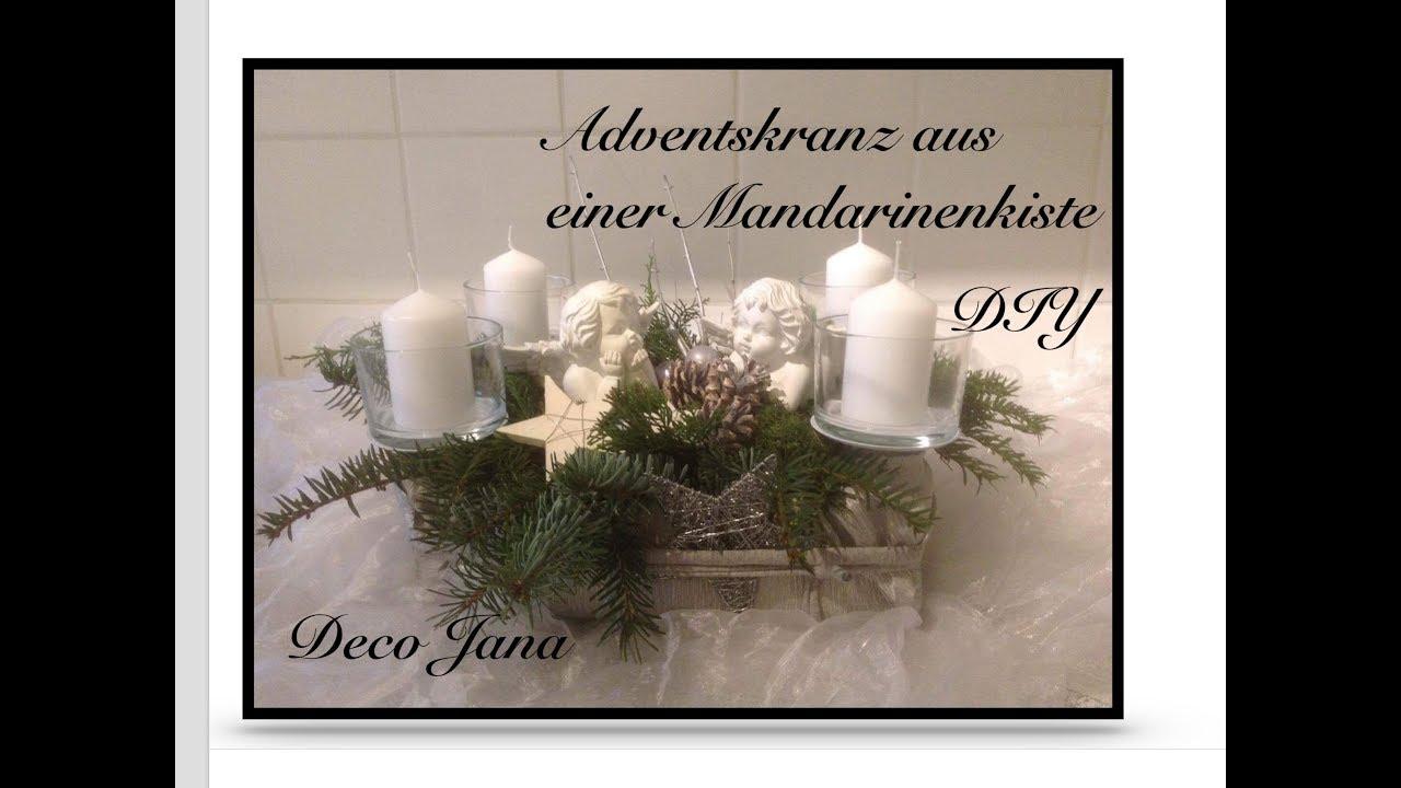 Diy adventskranz gesteck weihnachtsdeko deco jana for Youtube weihnachtsdeko