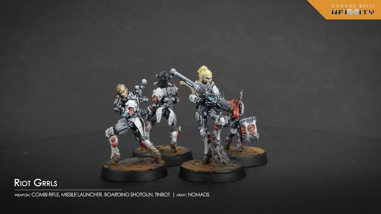 Tohaa Ectros Regiment With HMG Miniature Corvus Belli