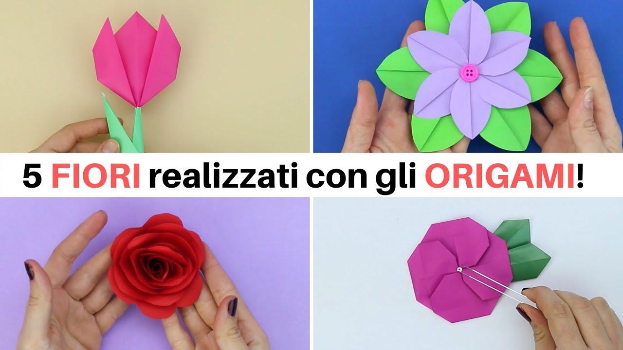 0rigami Fiori.5 Fiori Realizzati Con Gli Origami Youtube