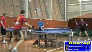 Dmitriy OSIPOV vs Alexander KRYILOV Moscow, Krylatsky Hills, Night League-600 Table Tennis