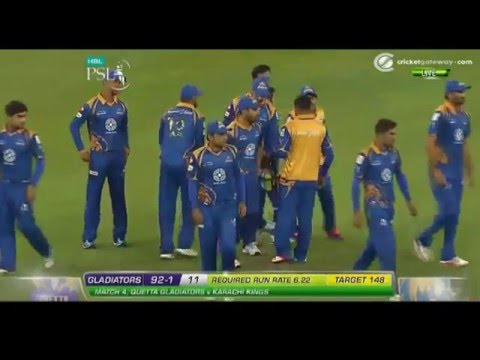 Full Match Karachi Kings Vs Quetta Gladiators_PSL 4th T20_Feb-6-2016