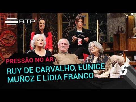 Pressão no Ar a Ruy de Carvalho, Eunice Muñoz e Lídia Franco | 5 Para a Meia-Noite | RTP