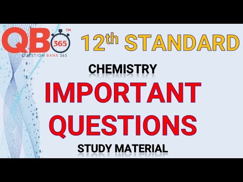 TN   12th Standard Chemistry Important Questions With Answer Key - Full Portion