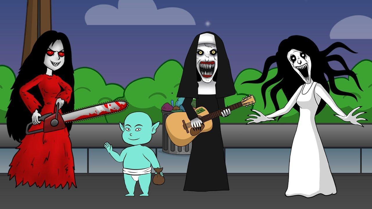 Kompilasi Kartun  Horor Lucu  Kuntilanak Tuyul Valak
