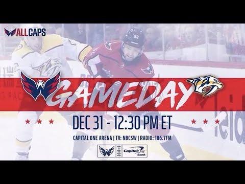 NHL 19 PS4. REGULAR SEASON 2018-2019: Nashville PREDATORS VS Washington CAPITALS. 12.31.2018.(NBCSN)