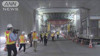 東京に新海底トンネル貫通 五輪では選手ら輸送も(19/07/12)