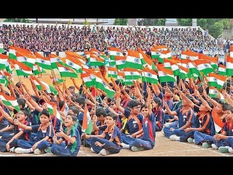 "independence day | 15 august 2018 | Indian National Anthem, ""Jana Gana Mana"" 