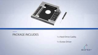 Storite 12.7mm SATA to IDE Caddy/Enclosure 2nd Bay