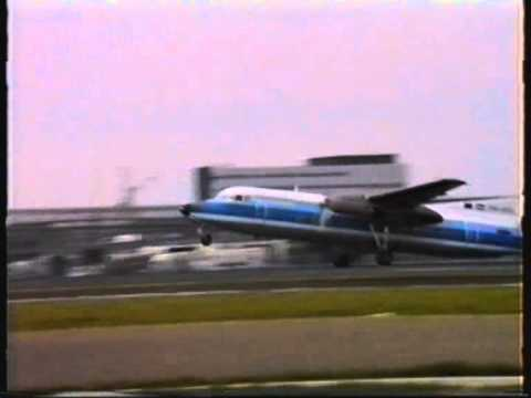 Amsterdam Schiphol 1991:  Fokkers of AirUK, NLM CityHopper