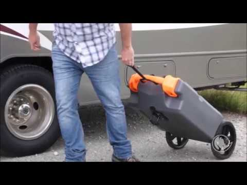Camco Rhino Heavy Duty 21 Gallon Portable Rv Waste Holding Tank With Hose And Accessories Youtube
