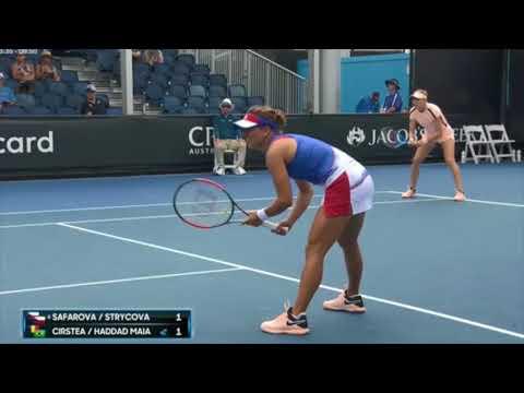Safarova/Strycova def. Cirstea/Haddad Maia 2-6, 6-0, 6-4 (A0, R3)