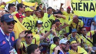 Colombianos en KAZAN antes del partido contra Polonia l Mundial 2018