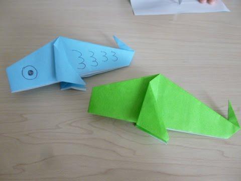 ハート 折り紙:魚の折り紙-youtube.com