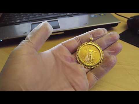 2009 1 oz american eagle fine gold coin 50 dollars 14k bezel rope