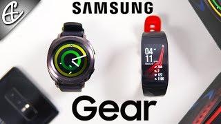 Samsung GEAR SPORT & GEAR FIT 2 PRO - Unboxing & Hands On!