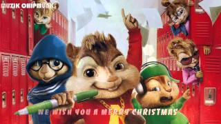 We Wish You A Merry Christmas (Chipmunks dance version) || Best christmas song 2015