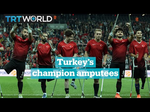 Turkey national amputee football team are European champions