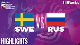 Sweden vs. Russia - Game Highlights - #IIHFWorlds 2019