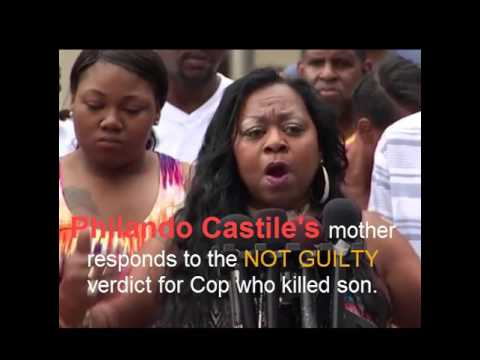Philando Castile's Mom Reacts To NOT GUILTY Verdict for cop who killed son