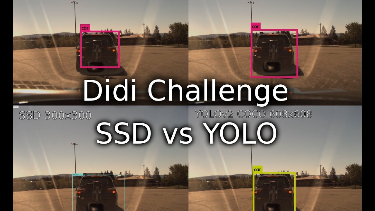 Didi Challenge SSD vs YOLO vehicle detection (Dataset Release 2)