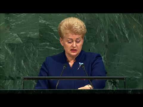 Dalia Grybauskaitė sako kalbą Jungtinių Tautų Generalinėje Asamblėjoje