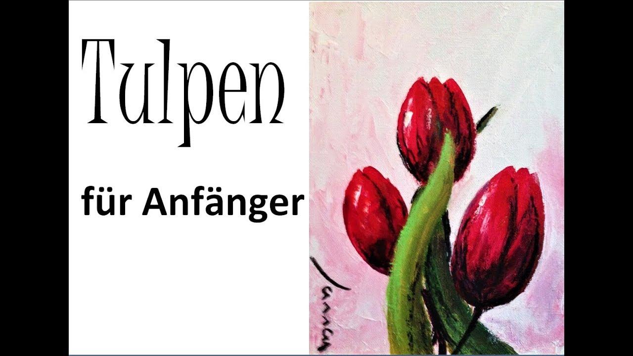 10 Minuten Malerei Dekorative Tulpen Youtube