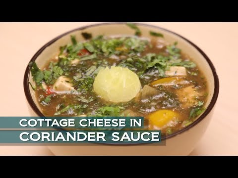 Cottage Cheese In Coriander Sauce | Healthy Cooking Videos | Easy Paneer Recipe | Easy Cooking