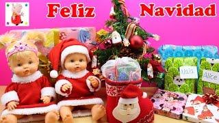 Las Bebés Nenuco Hermanitas Traviesas abren sus Regalos de Navidad   Juguetes Sorpresa thumbnail