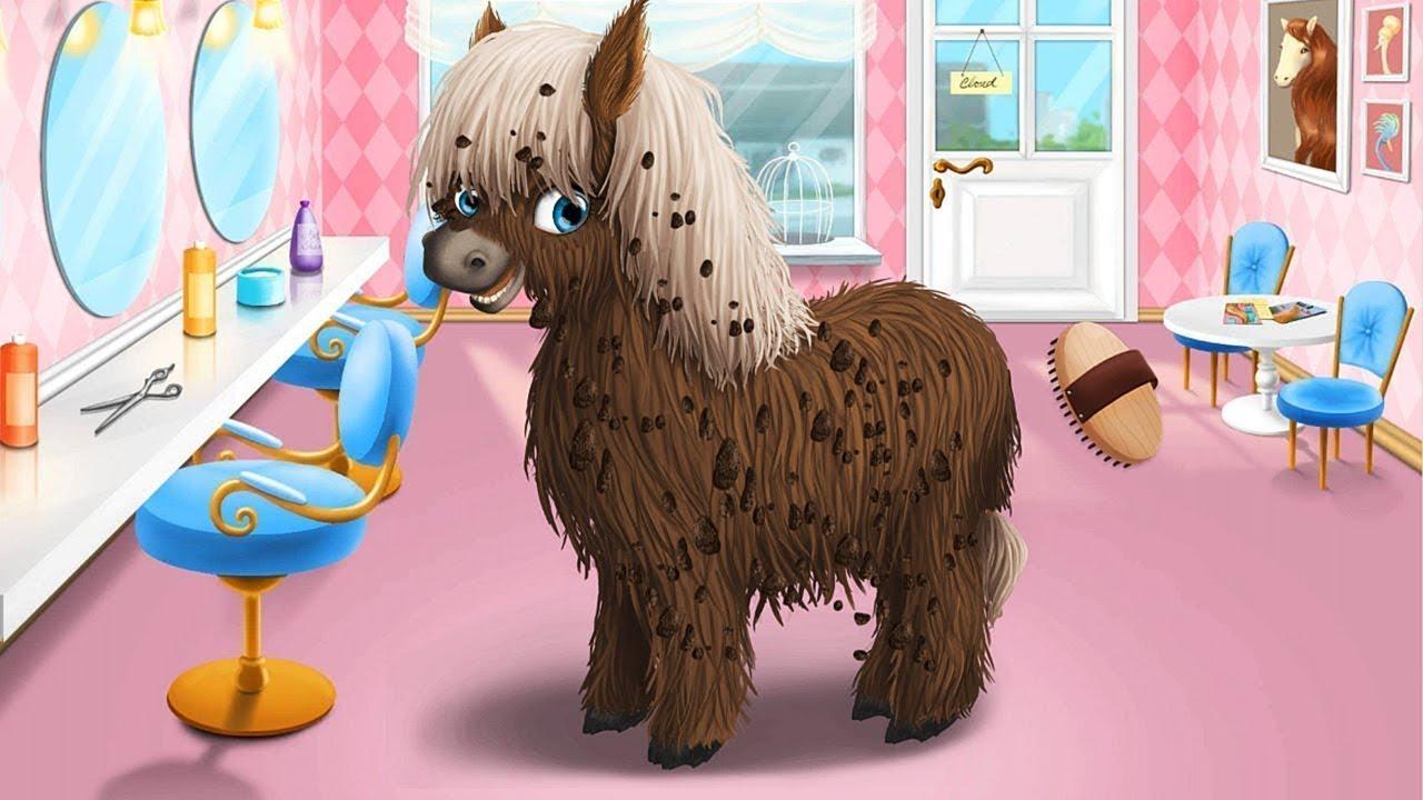 Bañar Y Cortar El Cabello A Animales Adorables Juegos De Mascotas Youtube