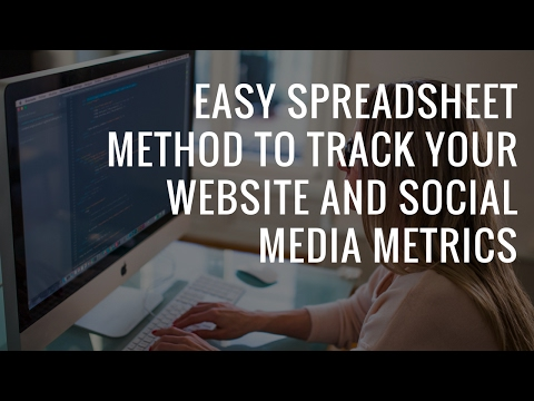 How to track your Social Media channels in excel