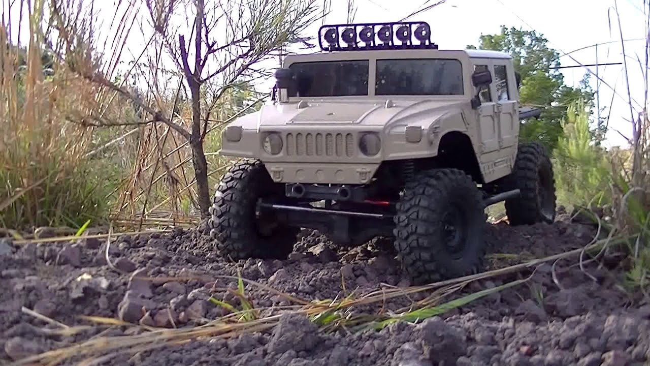 Rc84films Hummer H1 Scx10 1st Run Youtube