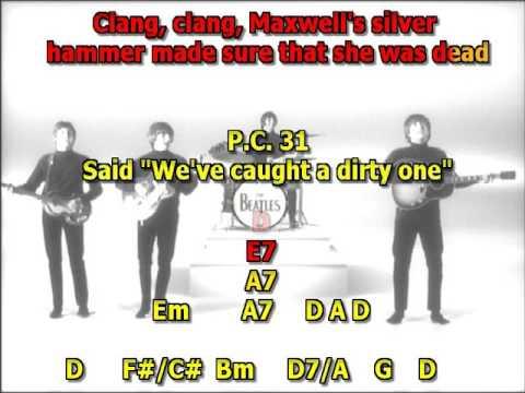 Maxwells Silver Hammer Beatles best karaoke instrumental lyrics chords