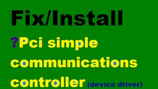Fix/Install