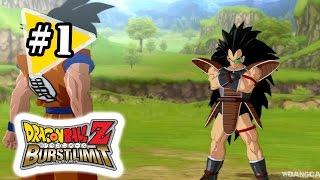 Dragon Ball Z: Burst Limit Gameplay Walkthrough Part 1 - Saiyan Saga