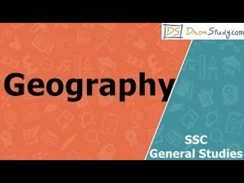 Geography : SSC General Studies Video Lectures in Hindi